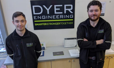 Apprentice adam walford and site manager James Parkins at Dyer engineering