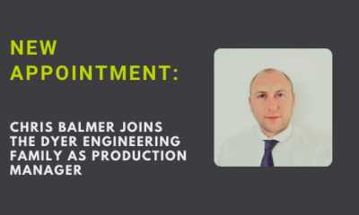New appointment: Chris Balmer joins Dyer team as Production Manager