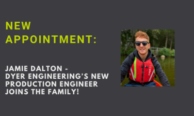 Metal components manufacturers Dyer welcomes new Production Engineer, Jamie Dalton
