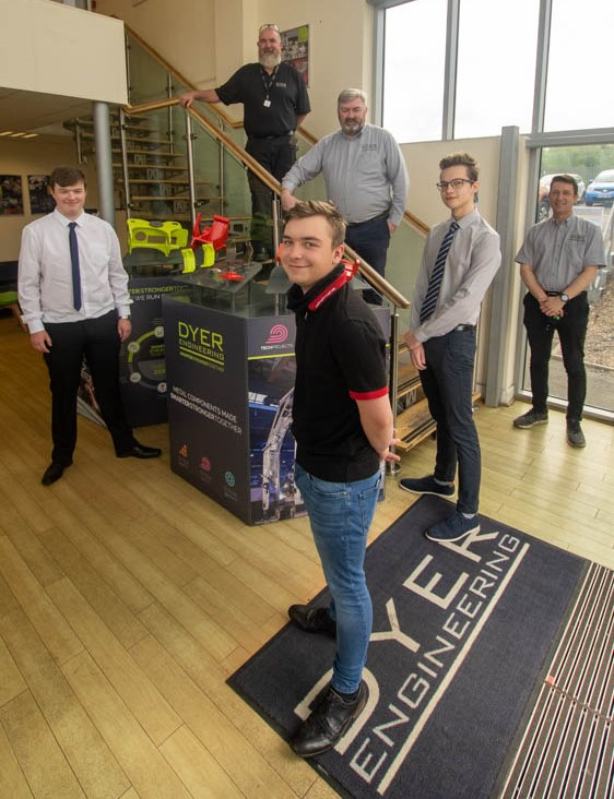 New College Durham students, Daniel, Cameron join Dyer as welding fabricators