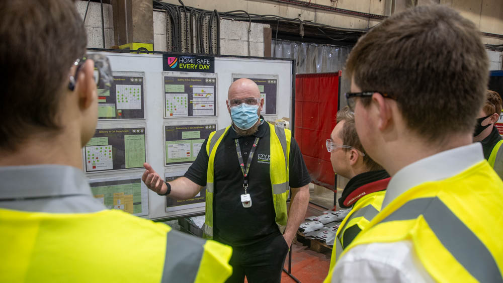 The Dyer team had their own words of encouragements for their new welding fabricators