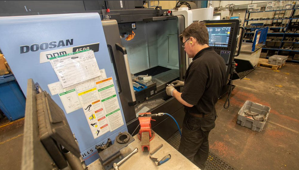 Dyer Engineering machining specialist setting up new CNC machine